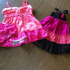 Bundle of 2 summer dresses girls size 18-24 months
